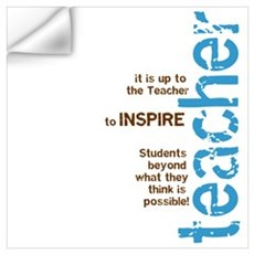 Teacher's Inspire (Blue/Brown Wall Decal